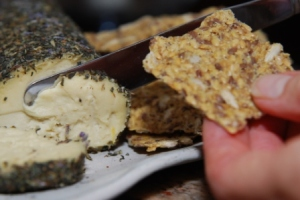 Chevre with Herbes de Provence and Seed Crackers